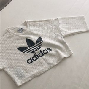 Adidas crop top white